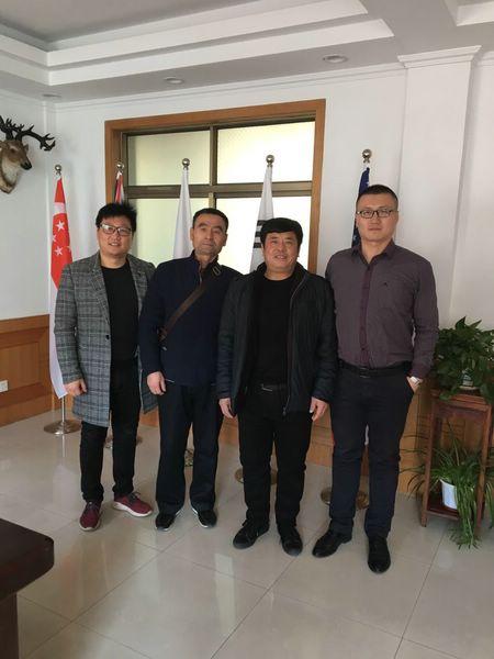 欢迎出国劳务办理机构江苏何总、泰安亓总来访